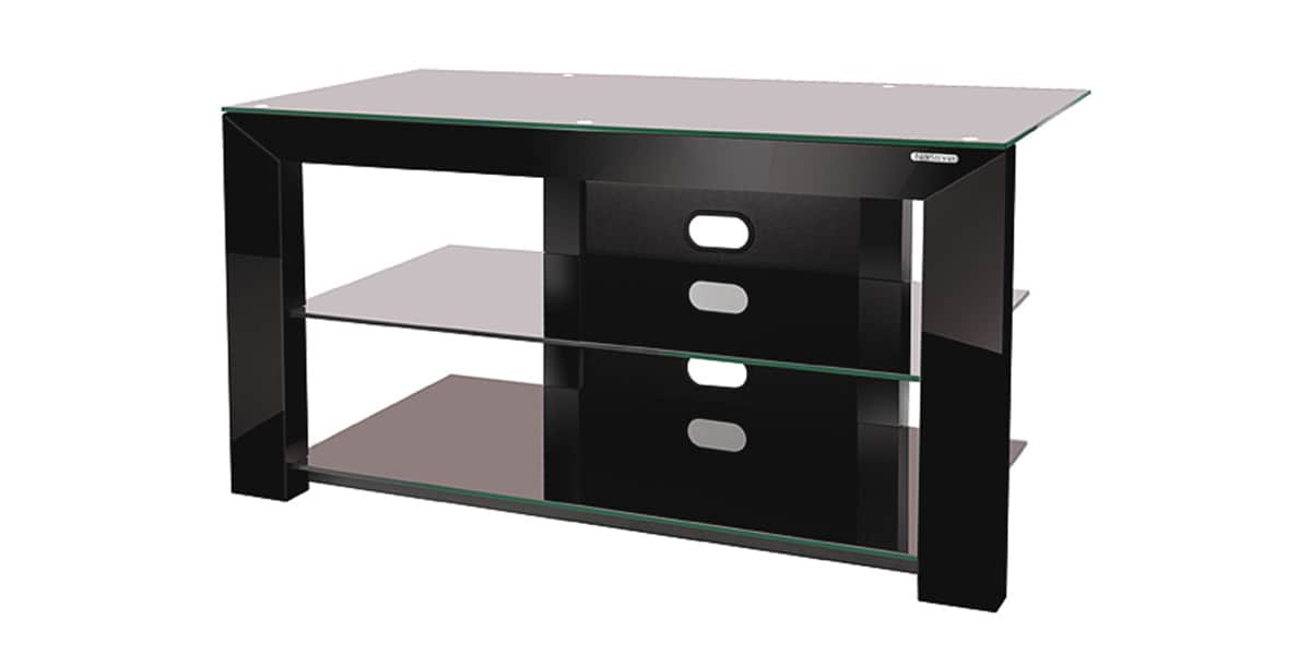 norstone piu av noir meubles tv norstone sur easylounge. Black Bedroom Furniture Sets. Home Design Ideas
