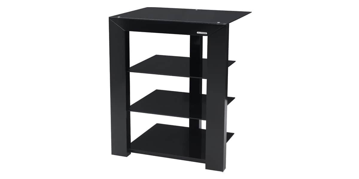 Norstone piu noir meubles hifi sur easylounge - Meuble chaine hifi en verre ...