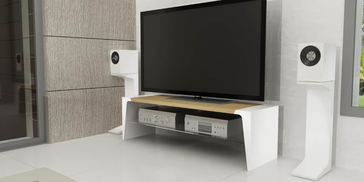norstone arken 1200 bambou blanc meubles tv norstone sur easylounge. Black Bedroom Furniture Sets. Home Design Ideas