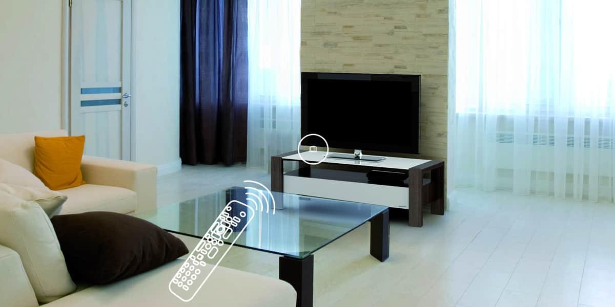 Norstone d port ir iryx accessoires meubles tv sur - Meuble tv infrarouge ...