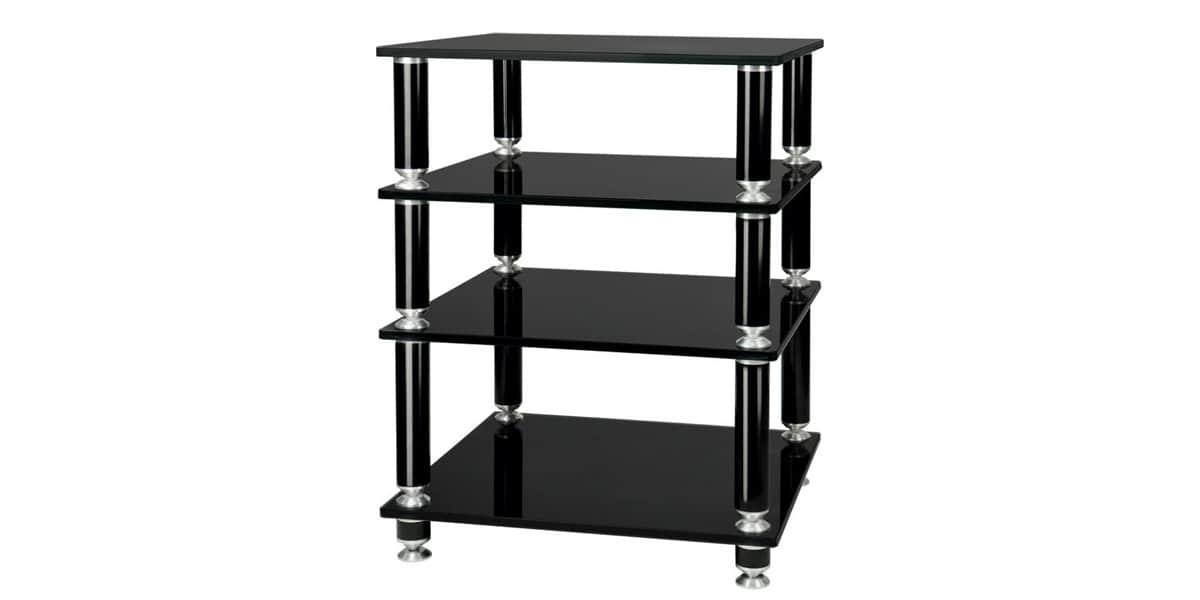 Norstone st bbl hifi noir meubles hifi sur easylounge for Meuble hifi 110