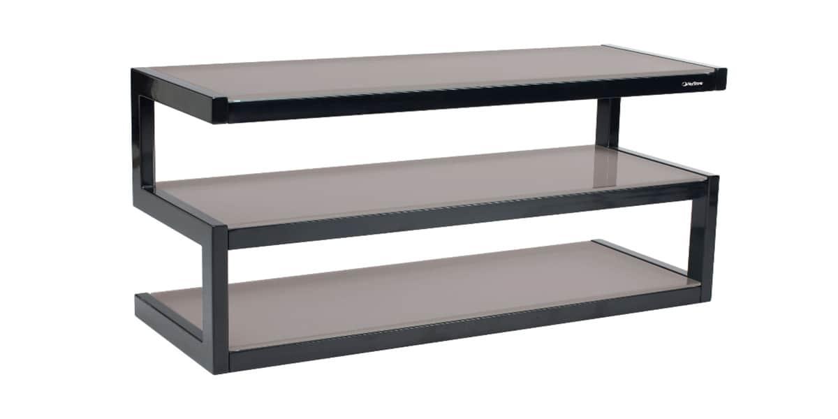 Norstone esse noir et gris meubles tv norstone sur for Meuble tv noir et gris