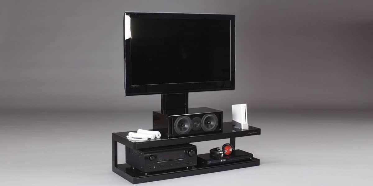 Norstone s noir meubles tv norstone sur easylounge for Meuble tv norstone