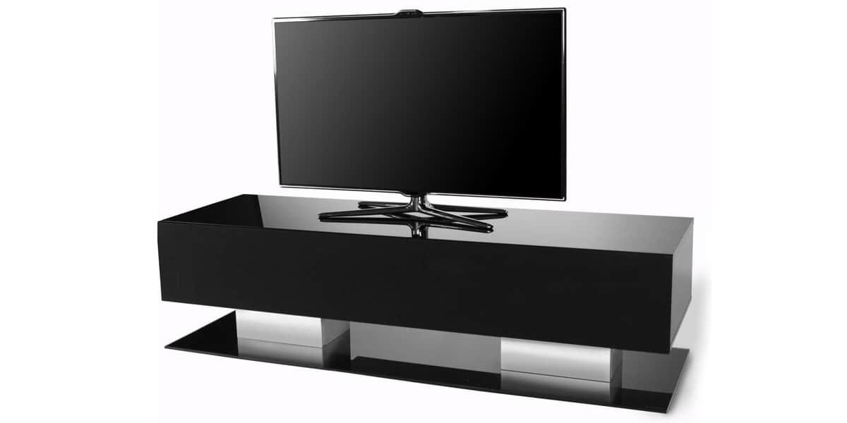 Norstone tably noir meubles tv norstone sur easylounge for Meuble tv norstone