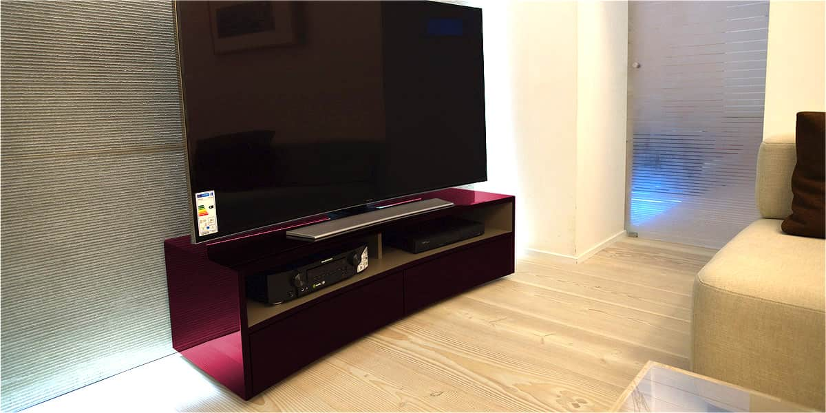 norstone valmy aubergine meubles tv norstone sur easylounge. Black Bedroom Furniture Sets. Home Design Ideas
