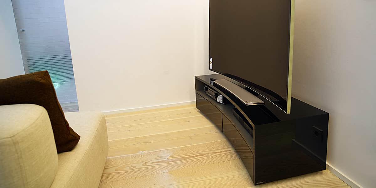 Norstone valmy noir meubles tv norstone sur easylounge - Meuble barre de son ...