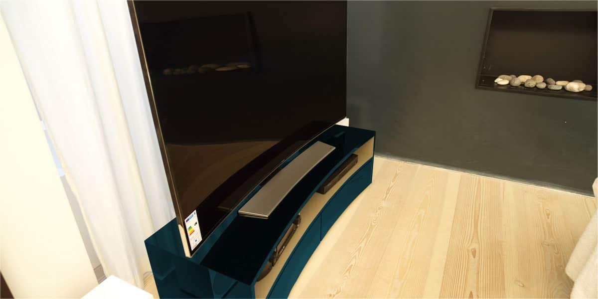 Norstone valmy cobalt meubles tv norstone sur easylounge - Meuble tv infrarouge ...