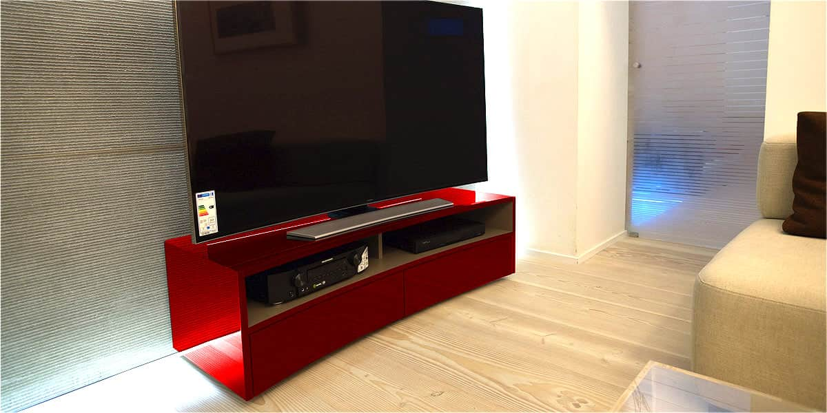 norstone valmy rouge meubles tv norstone sur easylounge. Black Bedroom Furniture Sets. Home Design Ideas