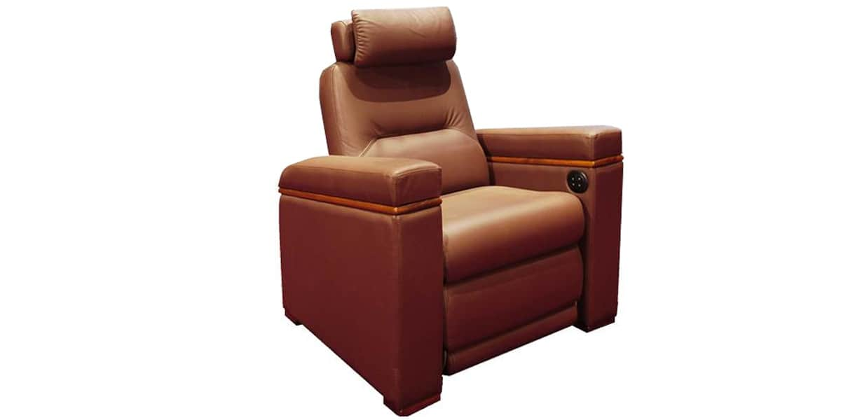 oray home cinma zoom marron - Fauteuil Home Cinema