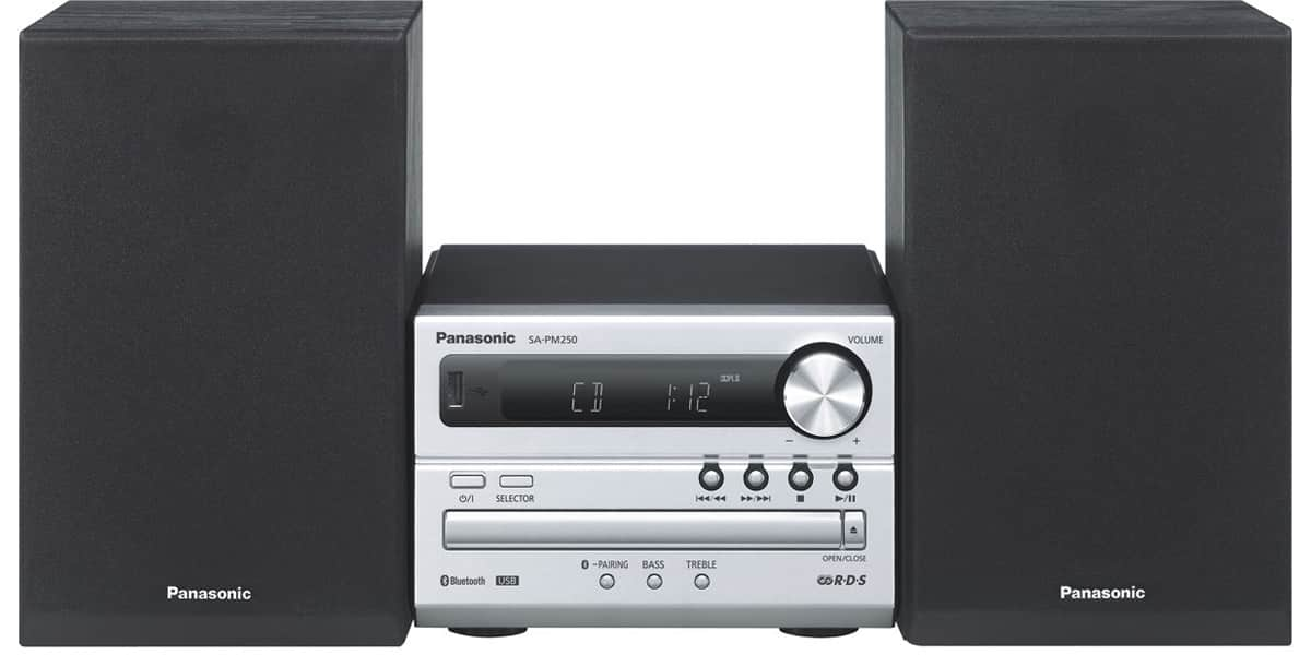 panasonic sc pm250ef s gris mini chaines hifi sur easylounge. Black Bedroom Furniture Sets. Home Design Ideas