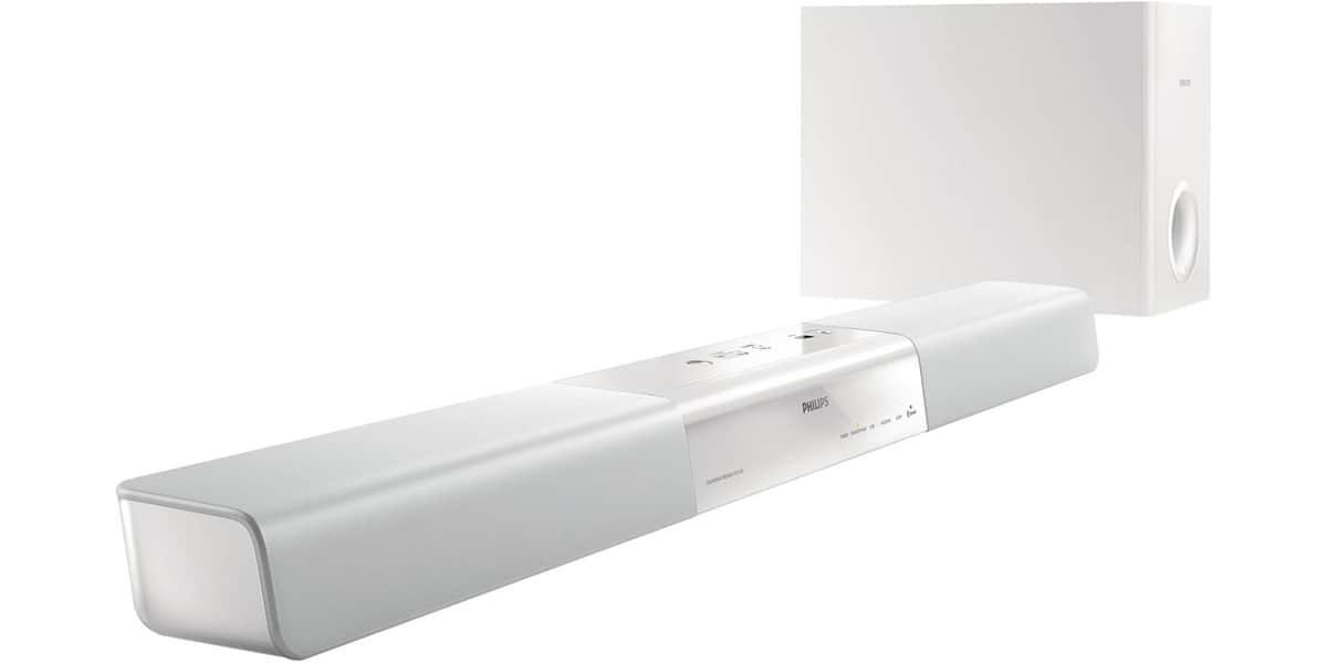 philips htl2160 blanc barres de son sur easylounge. Black Bedroom Furniture Sets. Home Design Ideas