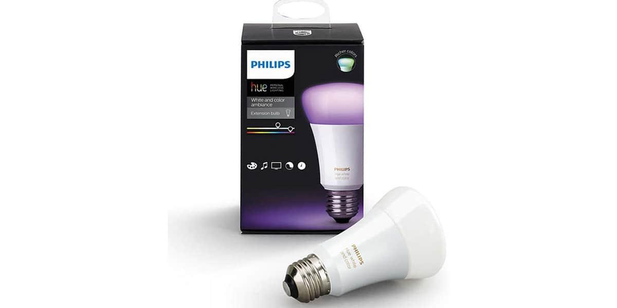 Philips hue colors e27 10 watts objets connect s sur - Ampoule connectee philips ...