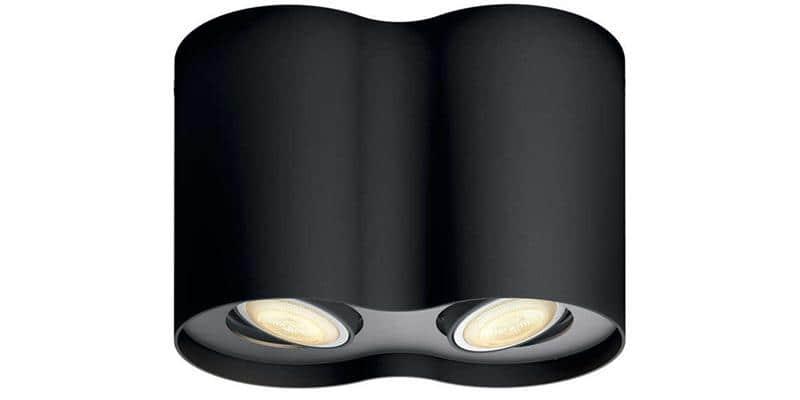 Philips Hue Pillar Double Noir