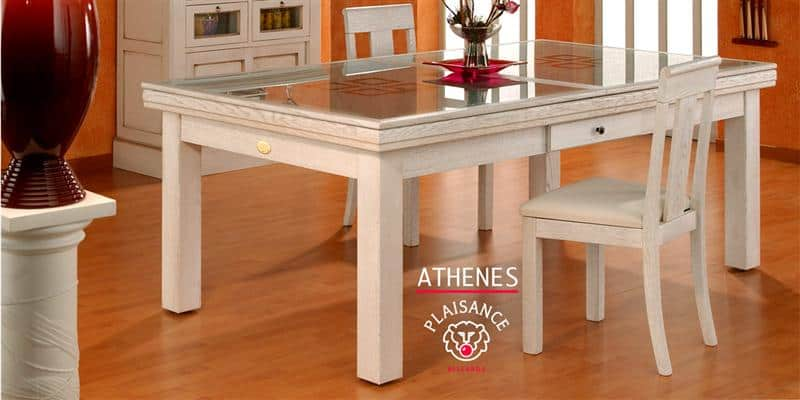 Billards Plaisance Plateau Table Athènes en Verre