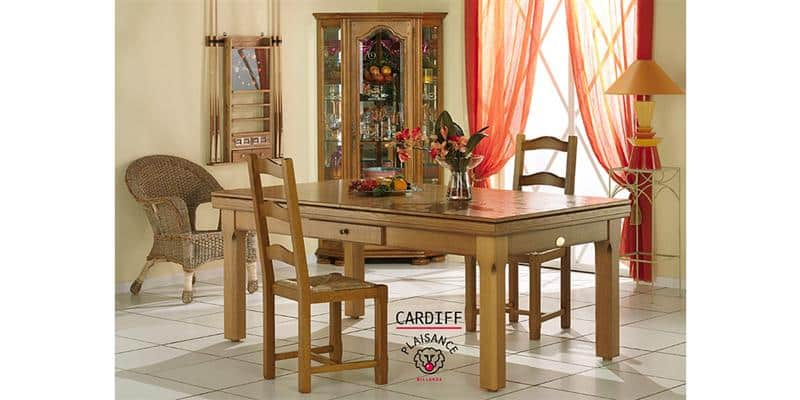 Billards Plaisance Plateau Table Cardiff en Bois