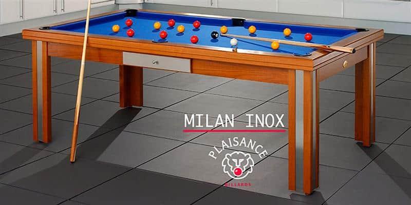 Billards Plaisance Milan Inox Tapis Bleu