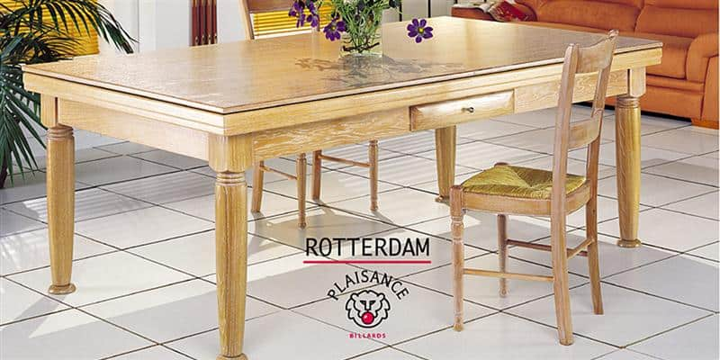 Billards Plaisance Plateau Table  Rotterdam Blanchi en Bois