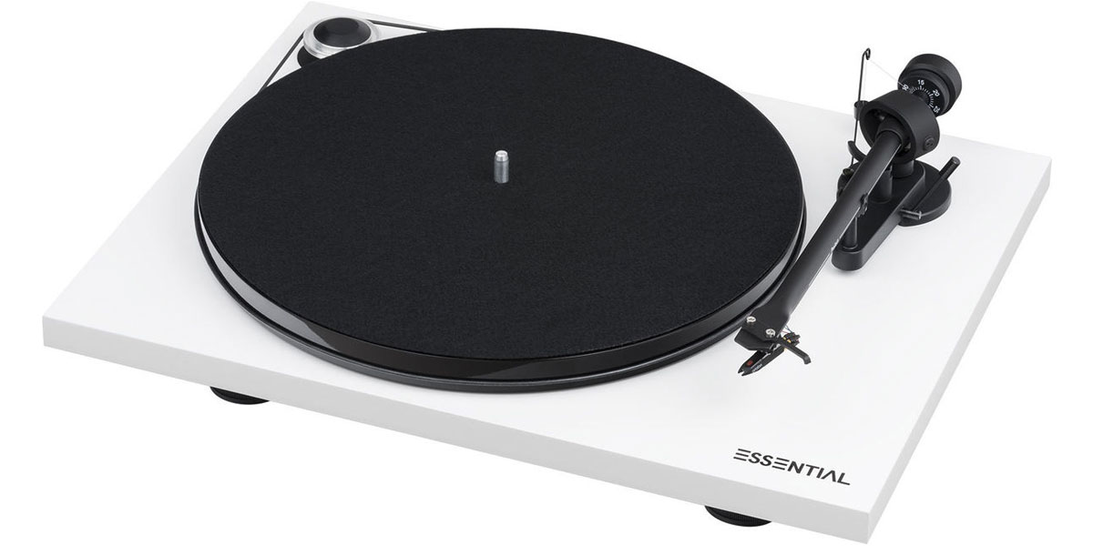 Pro-ject Essential III Phono Blanc Laqué