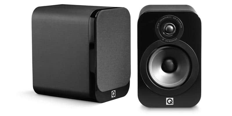 Q Acoustics 3020 Simili-cuir noir
