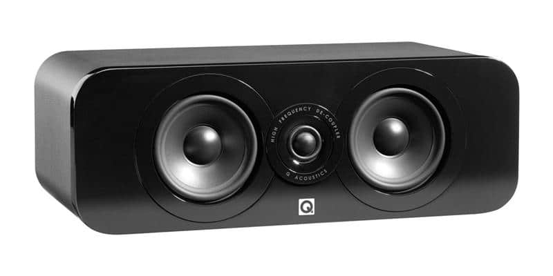 Q Acoustics 3090C Simili-cuir noir