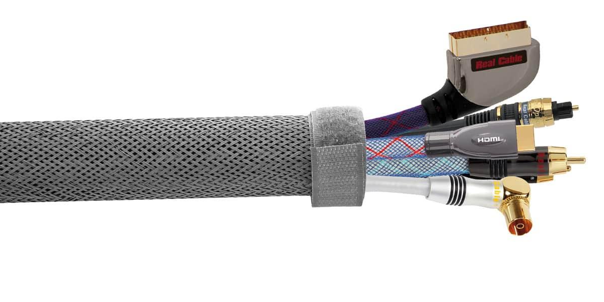 real cable gaine cache cables accessoires c bles sur. Black Bedroom Furniture Sets. Home Design Ideas