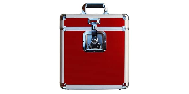 Rock on Wall Flight Case 25LP Rouge