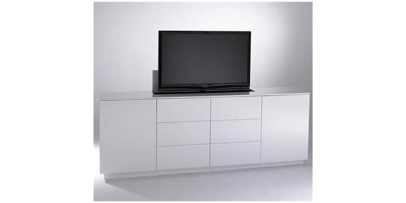 stunning sb concept mptlb bl blanc meubles tv divers sur meuble tv escamotable motorise with. Black Bedroom Furniture Sets. Home Design Ideas