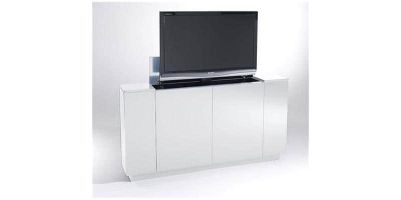 Sb concept m2pf2n1lb bl blanc meubles tv divers sur for Avis meubles concept