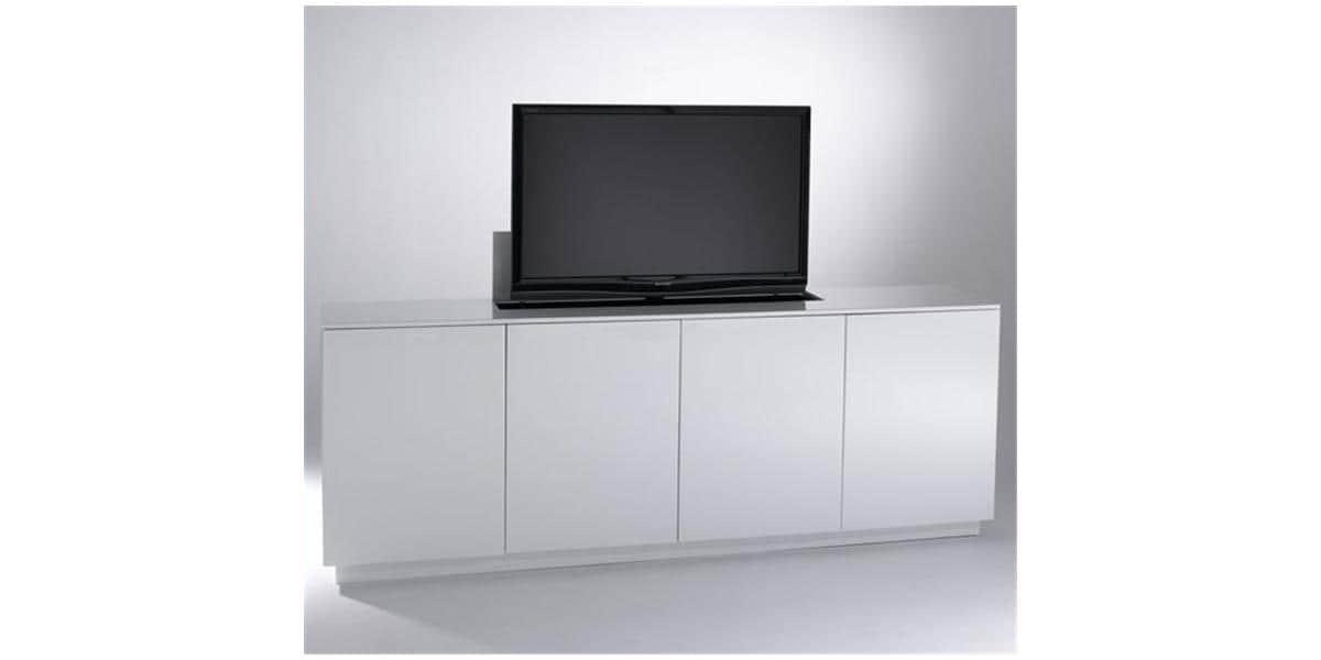 Sb concept m4p2lb bl blanc meubles tv divers sur easylounge for Meubles concept avis