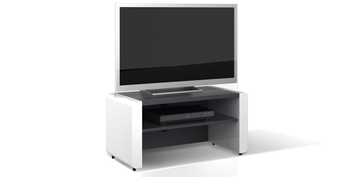 Schnepel elf linie 90 blanc et av meubles tv schnepel for Meuble tv 90