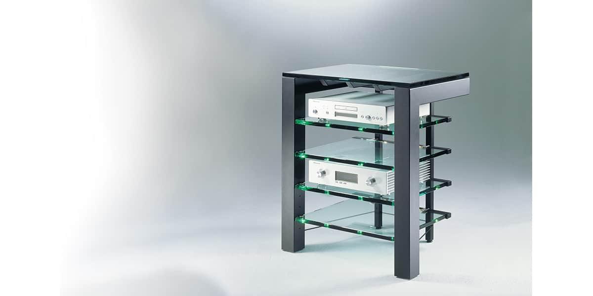 Schroers focus 72 meubles hifi sur easylounge - Meuble chaine hifi en verre ...