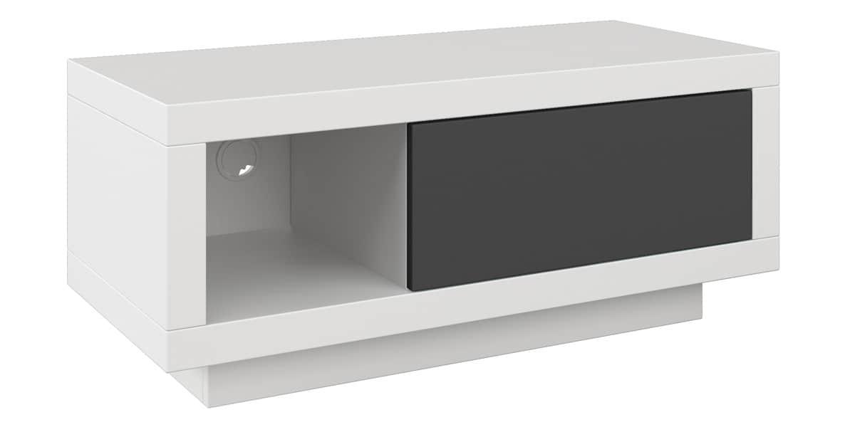 Schnepel varic m 64018 blanc et graphite easylounge for Meuble tv 90 cm longueur noir