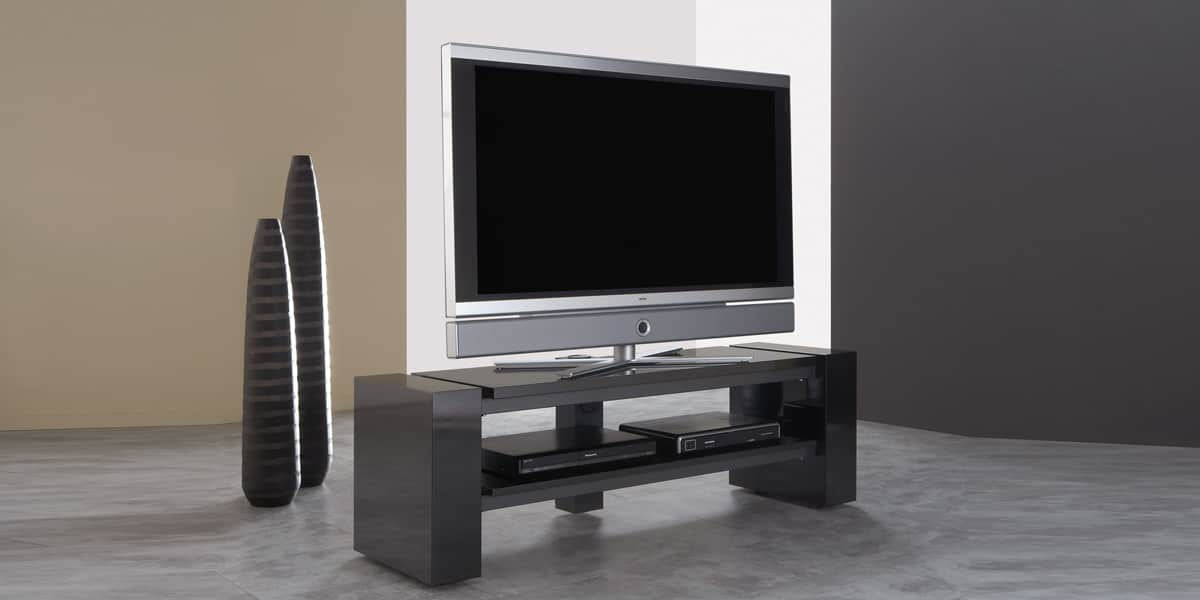 schnepel x linie 1400 ouvert noir meubles tv schnepel sur easylounge. Black Bedroom Furniture Sets. Home Design Ideas