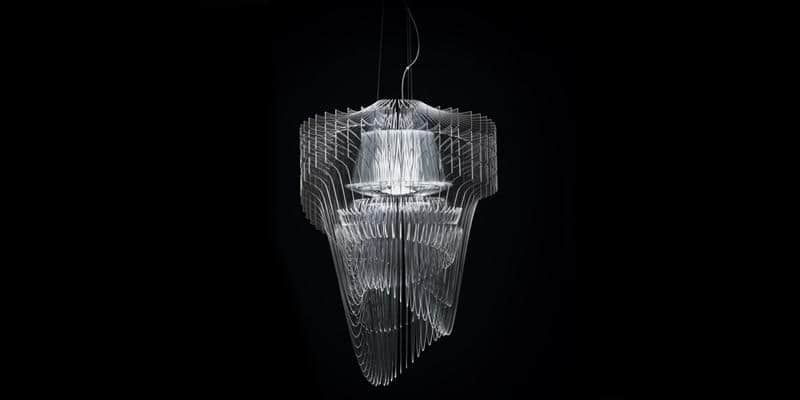 Slamp Suspension Aria L Transparent