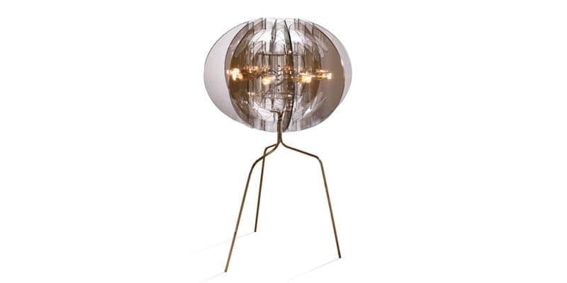 Slamp Lampe sur pied Atlante Fumé