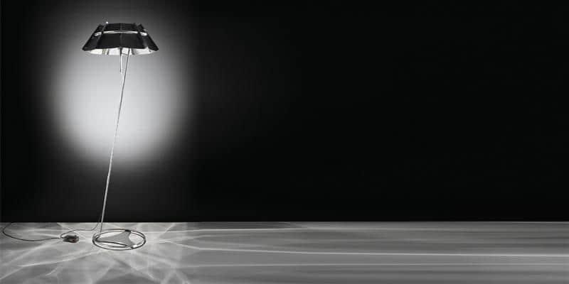 Slamp Lampe sur pied Chapeau Noir