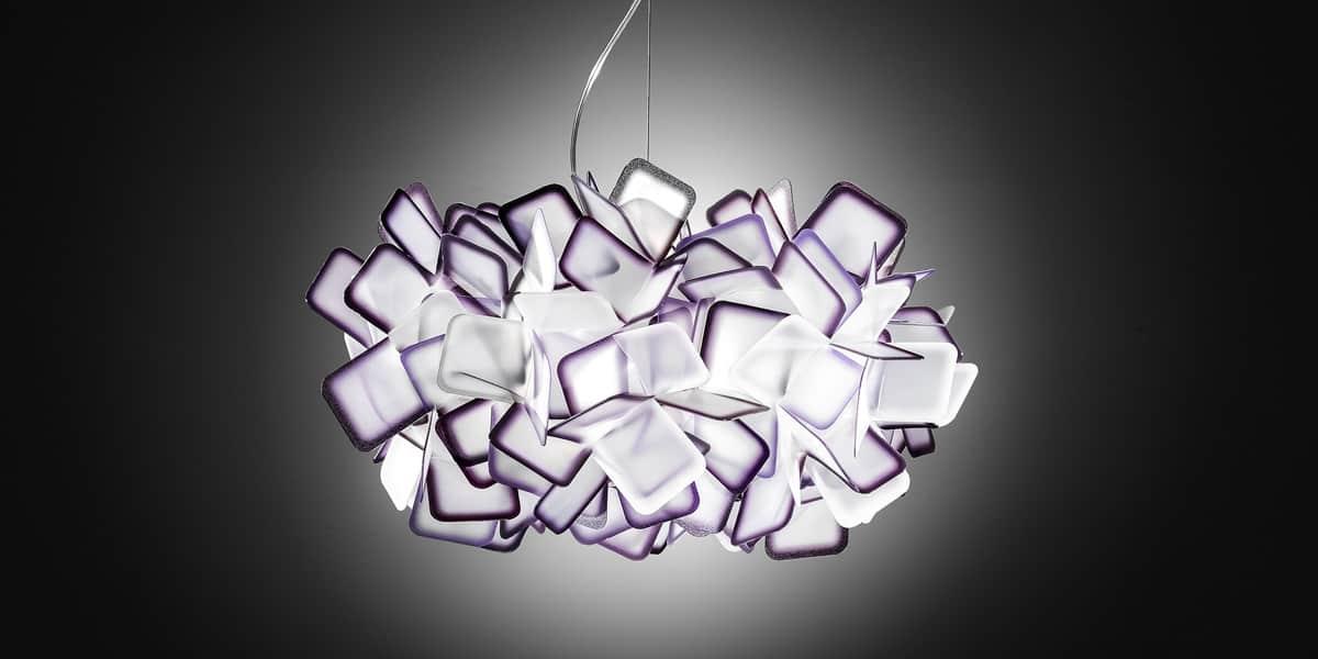 slamp suspension clizia violet suspensions luminaires sur easylounge. Black Bedroom Furniture Sets. Home Design Ideas