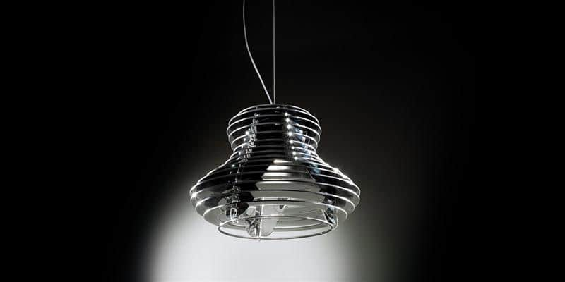 Slamp Suspension Faretto Noir par Slamp