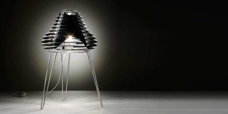 Slamp Lampe à poser Faretto Noir