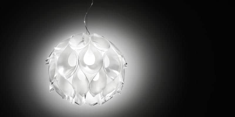 Slamp Suspension Flora M Blanc