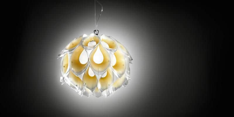 Slamp Suspension Flora S Jaune