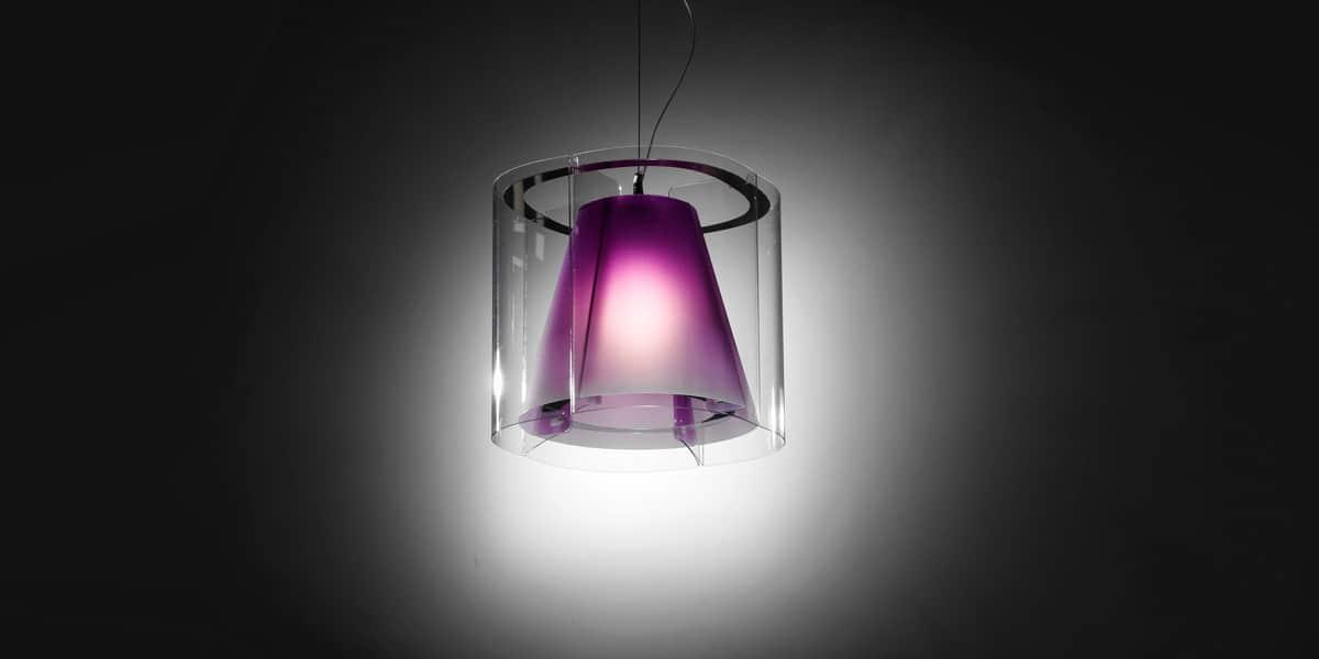 slamp suspension harris violet suspensions luminaires sur easylounge. Black Bedroom Furniture Sets. Home Design Ideas