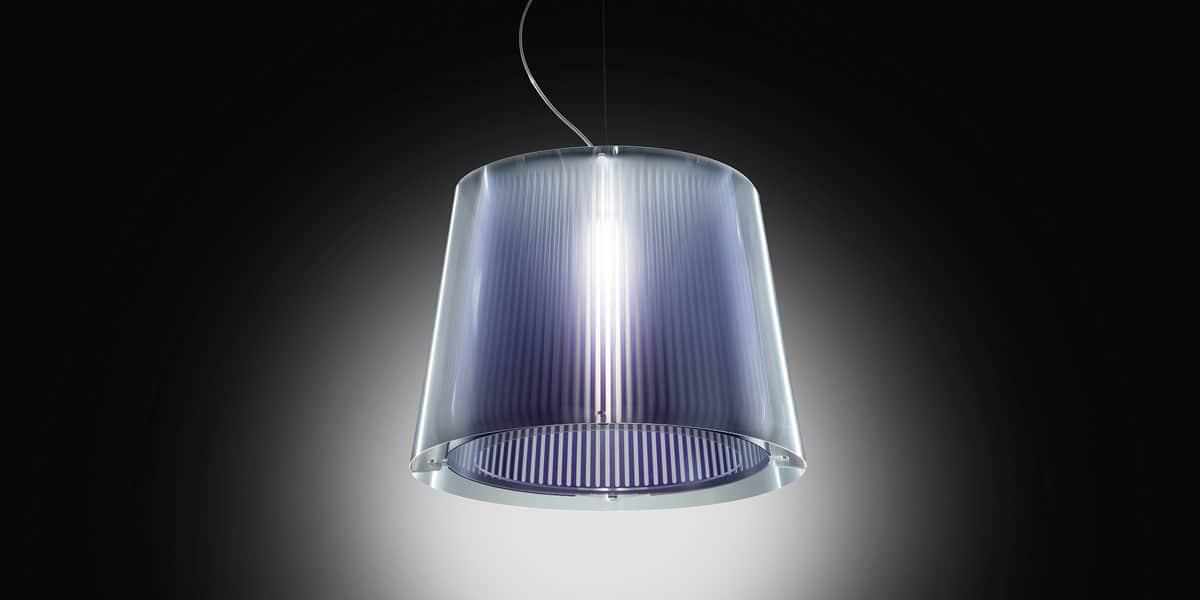 slamp suspension liza violet suspensions luminaires sur easylounge. Black Bedroom Furniture Sets. Home Design Ideas