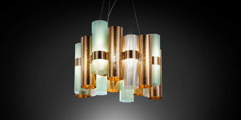 Slamp Suspension La Lollo Copper Green