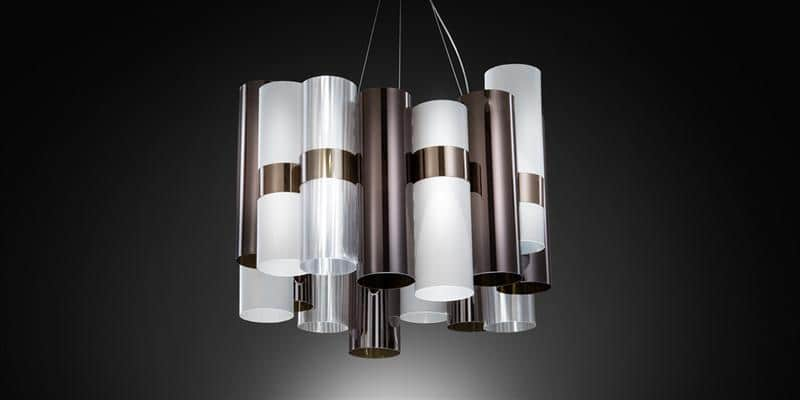 Slamp Suspension La Lollo Pewter White
