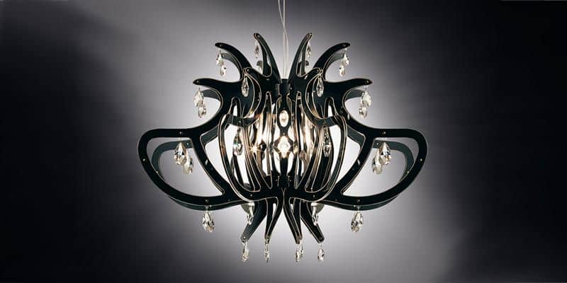 Slamp Suspension Medusa Noir