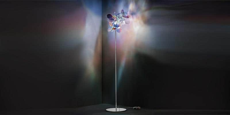 Slamp Lampadaire Mille Bolle Iridescent