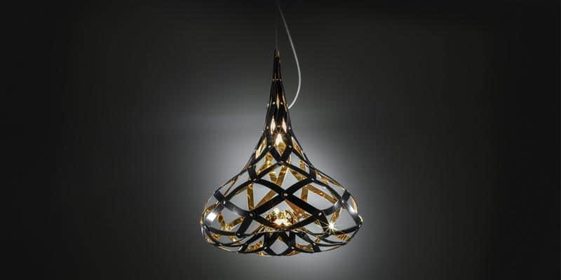 Slamp Suspension Supermorgana Gold Black