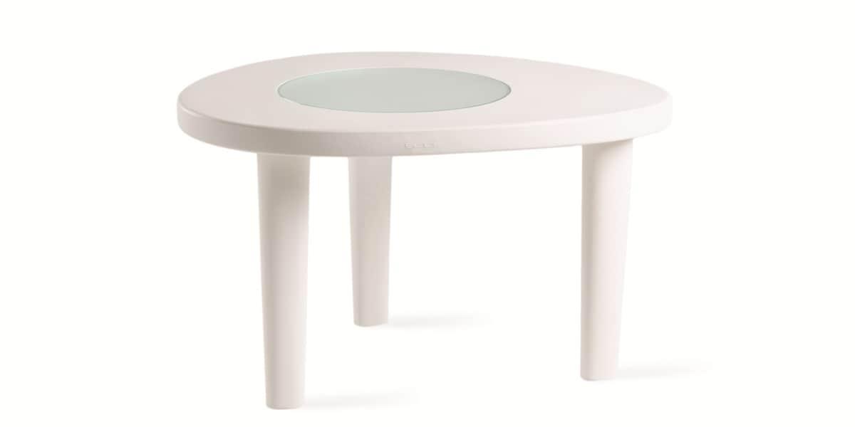 Slide coccode blanche tables de jardin sur easylounge - Table jardin blanche lille ...