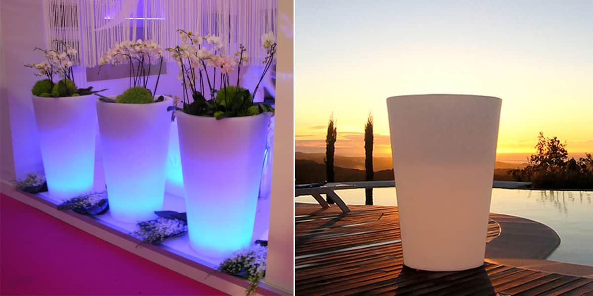 slide x pot lumineux 50cm d coration ext rieure sur easylounge. Black Bedroom Furniture Sets. Home Design Ideas
